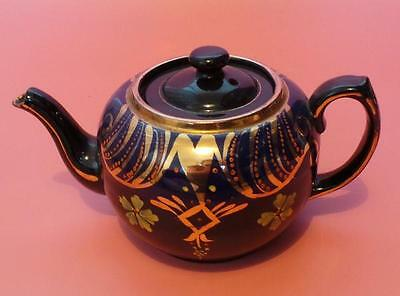 Wade TEAPOT Black / Hand Painted