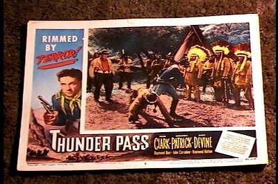 Thunder Pass 1954 Lobby Card #6 American Indian