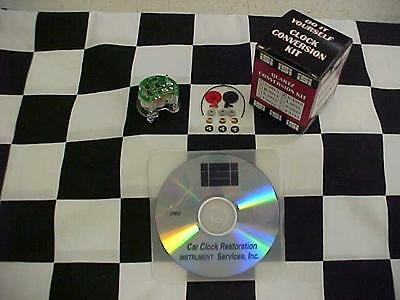 Quartz Conversion Clock Repair Kit N-3085 with Instructional DVD
