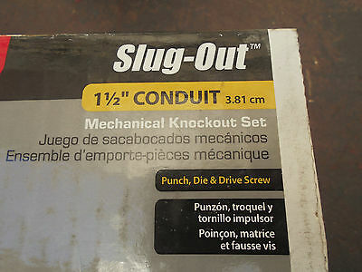 Gardner Bender 1.5 Inch  KOS-1500DS Slug-Out Mechanical Knockout Set for  (3.81