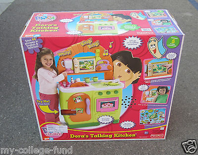 Fisher Price Dora The Explorer Original Talking Kitchen New