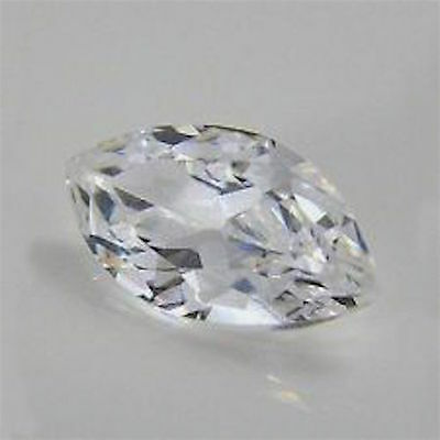 AAA Rated Marquise Faceted Bright White Lab Created Sapphire (4x2mm-18x9mm)