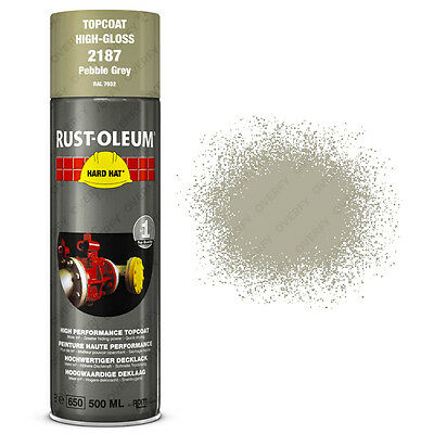 x19 Ultra-High Coverage Rust-Oleum Pebble Grey Spray Paint Hard Hat RAL 7032
