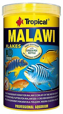 Tropical Malawi Mbuna Cichlids special flake vegetable high-protein 1000ml/200g