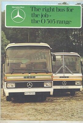1976 Mercedes Benz O303 Tour Bus Prestige Brochure wv9091