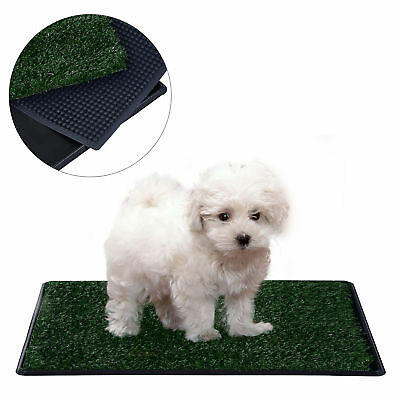 "PawHut 30"" Dog Toilet Mat 3 Layers Pet Potty Pee Tray Trainer Pad Turf Indoor"