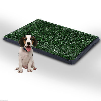 PawHut Dog Toilet Pet Puppy Mat Tray Training Patio Poop Trainer Grass Indoor