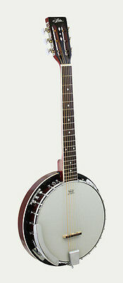 Brand New Aria Sb-10G Six String Banjo -24 Bracket - 6 String Banjitar