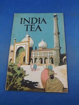 India Tea Information Booklet The Indian Tea Association London Advertising Map
