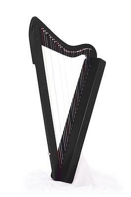 New Beautiful Black Rees Harps Harpsicle 26 String Harp