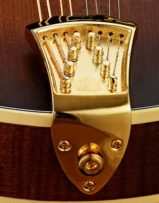 New Gold Ashton Bailey High Mass Cast Mandolin Tailpiece - Fits A And F Style