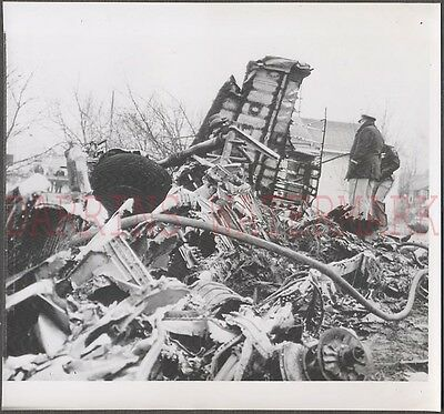 Vintage Car Photo Unusual Airplane Wreck 675803