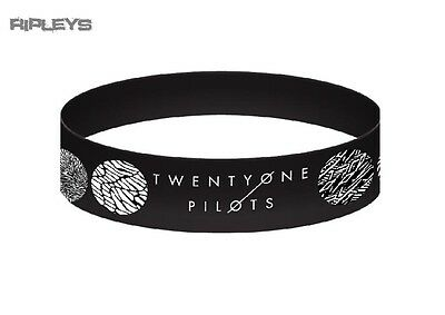 Official Twenty One Pilots Black Silicone Wristband GLOBAL Pattern Circles