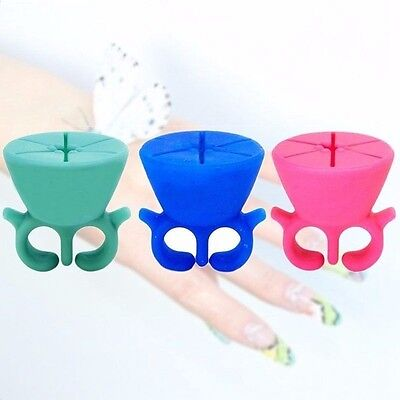 Wearable Universal Nail Polish Holder Silicone Ring Woman Girl Toys Tweexy Style