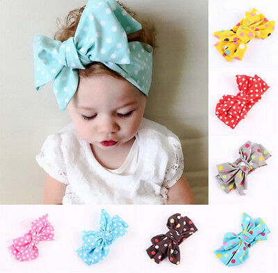 Kids Baby Girls Toddler Dot Headband Hair Band Accessories Headwear For Infant