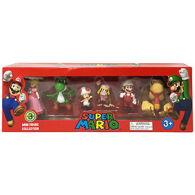 Super Mario Mini Figure Collection 6 Pack Series 3 Nintendo Gift Toy