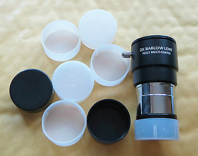 """Five High Quality Dust Caps for 1.25"""" Telescope Eyepieces or Others, Brand New"""
