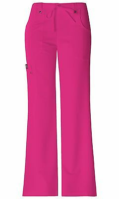 4857ad8f6d0 Hot Pink Dickies Scrubs Xtreme Stretch Mid Rise Drawstring Pant 82011 HPKZ