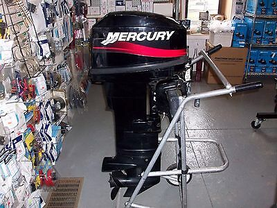 2005 25 HP Mercury Outboard 2-Stroke Long Shaft Remote Electric Start