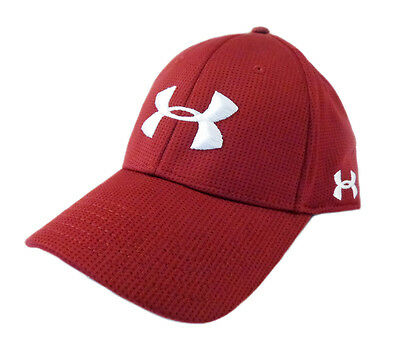 NEW Under Armour Performance Heat Gear Maroon/White Fitted L/XL Hat/Cap