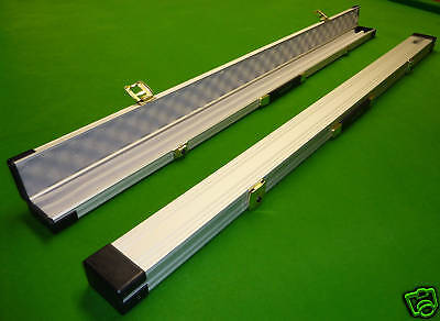 3/4 Silver Aluminium Snooker Cue Case - Made In Uk -  Best Quality