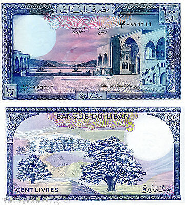 LEBANON 100 Livres Banknote World Paper Money UNC Currency BILL p66d