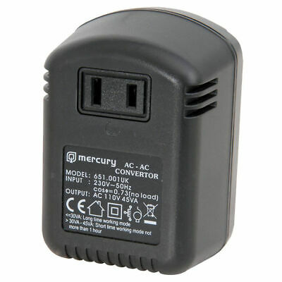 Step Down Travel Voltage Converter Adaptor US to UK Mains Plug Convertor 45W MAX