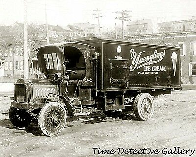 Vintage Yuengling Ice Cream Truck - circa 1920s - Historic Photo Print