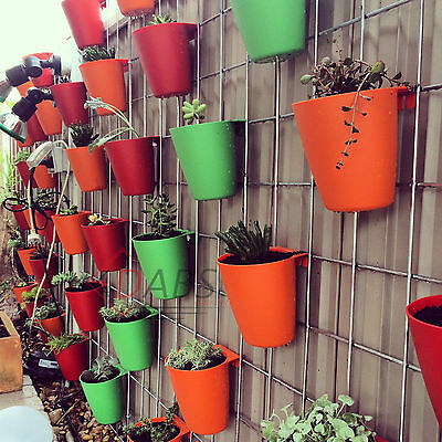 5 x BYGEL Assorted Colours Container Pots Rail OR Mounted to the Wall.
