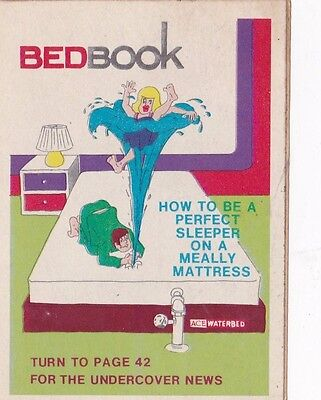 Vintage 1974 Fleer Crazy Covers Sticker Bedbook