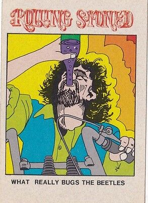 Vintage 1974 Fleer Crazy Covers Sticker Rolling Stoned