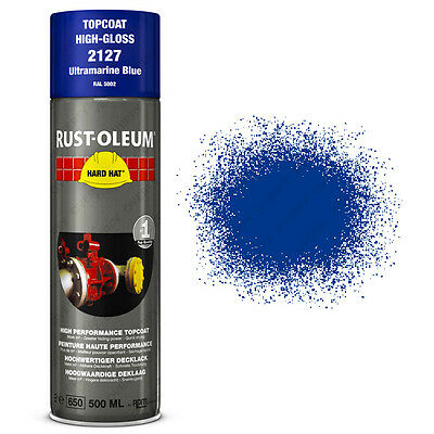 x23 Ultra-High Coverage Rust-Oleum Ultramarine Blue Spray Paint Hard Hat RAL5002