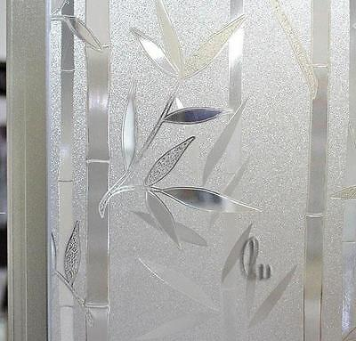 60cm x5m Bamboo Static 3D Reusable Removable Frosted Window Glass Film L024