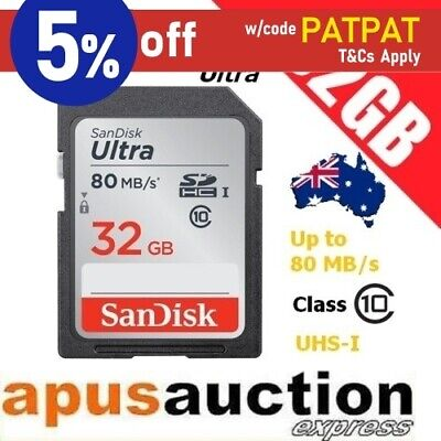 SanDisk Ultra 32GB SD Memory Card SDHC UHS-I Class 10 80MB/s Full HD *AU Stock*