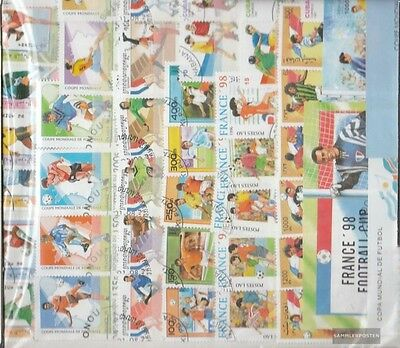 Motives 143 different stamps  to football WM 1998