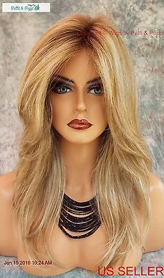 Lace Front Monotop Designer Wig  *Rooted Blond ✮ Blond Bombshell Turn Heads 590