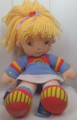 Rainbow Brite colorful soft plush stuffed Doll backpack straps