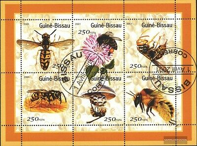 Guinea-Bissau 1510-1515 Sheetlet (complete issue) used 2001 Bee