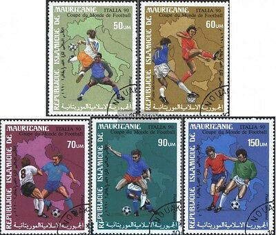 Mauritania 962-966 (complete issue) used 1990 World Cup, Italy