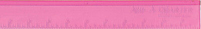 """Add-A-Quarter Ruler PINK - With a specially Designed 1/4"""" Lip 12 Inch long"""