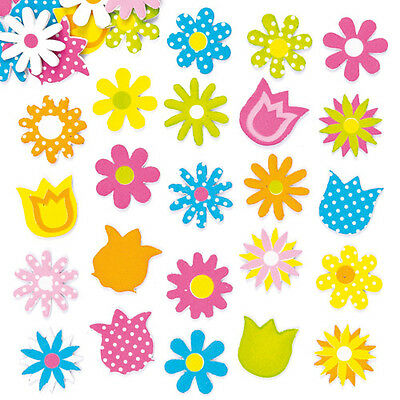 Spring Flower Foam Stickers for Kids to Decorate Cards & Craft  (Pack of 120)