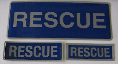 Encapsulated Reflective Rescue Badges Sewn On Or Velcro Different Sizes