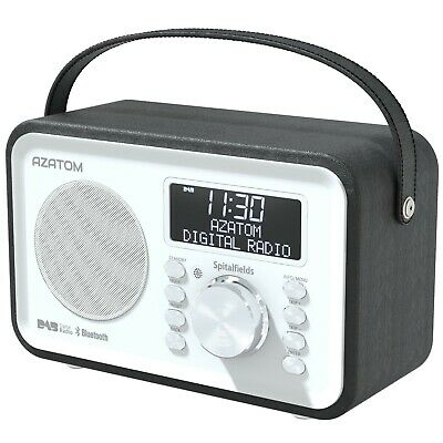 DAB Radio Home Portable Digital Alarm Rechargeable Bluetooth AZATOM Mulitplex