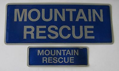 Encapsulated Reflective Mountain Rescue Badges Sewn On Or Velcro Different Sizes