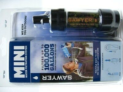 SAWYER Camo Portable Mini WATER Filter FILTRATION SYSTEM w/ 16 oz Pouch! SP107