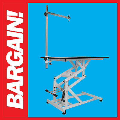 NEW Hydraulic Dog Pet Grooming Table With Arm