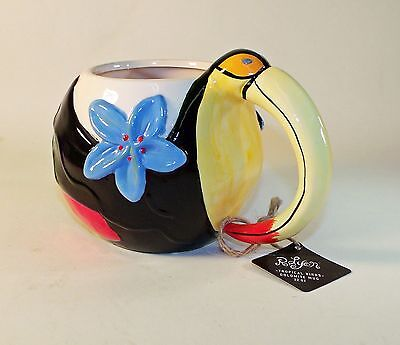 Extra Large Tropical Toucan Ceramic Coffee Mug - 22 oz