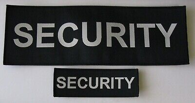 Black Woven Cloth Security Badges Sewn On Or Velcro Different Sizes