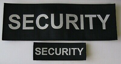 Black Woven Cloth Security Badges Sewn On  Different Sizes