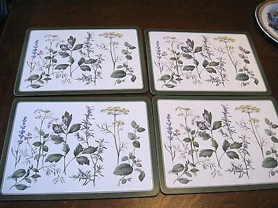 LOVELY SET/BOX of 4 PIMPERNEL PLACEMATS WILDFLOWERS ENGLISH GARDEN - CORK BACK